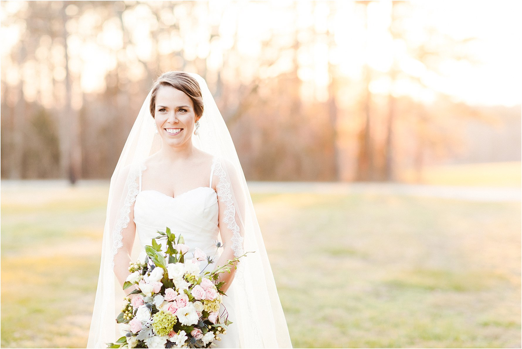 Classic Cathedral Veil Bridal Portraits in NC