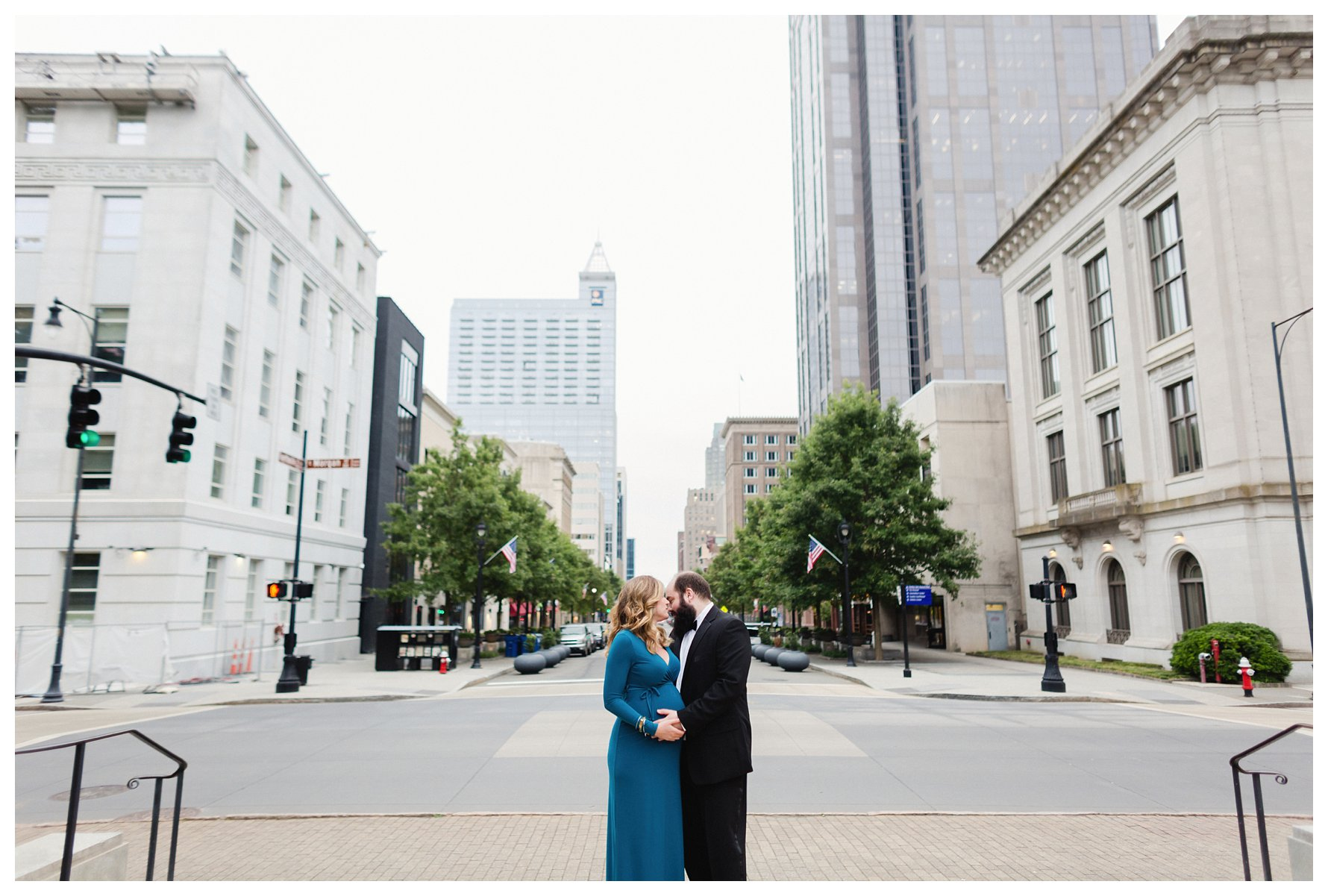 Fayetteville Street, Raleigh, NC Maternity Photography