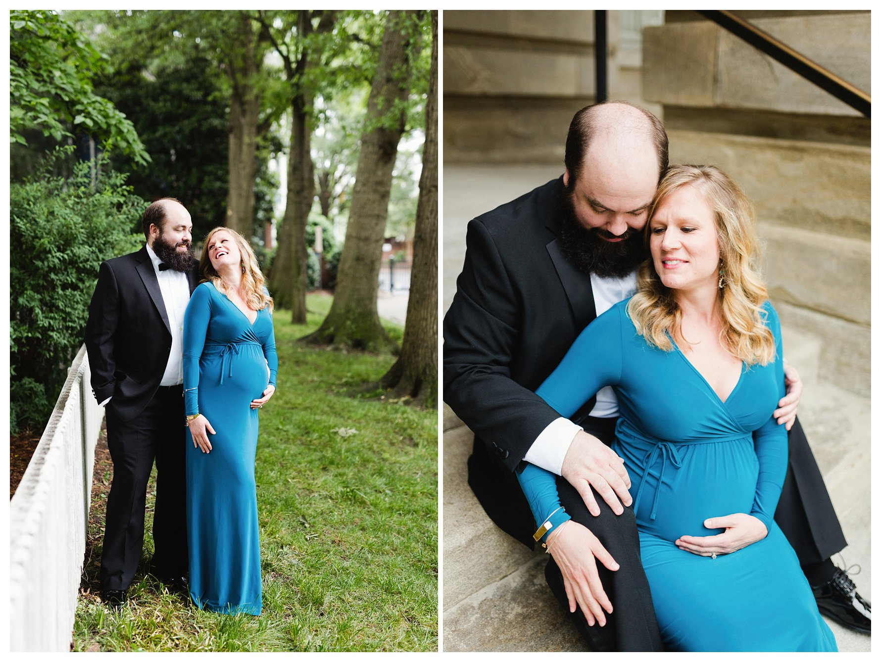 Black Tie Look for Maternity Session