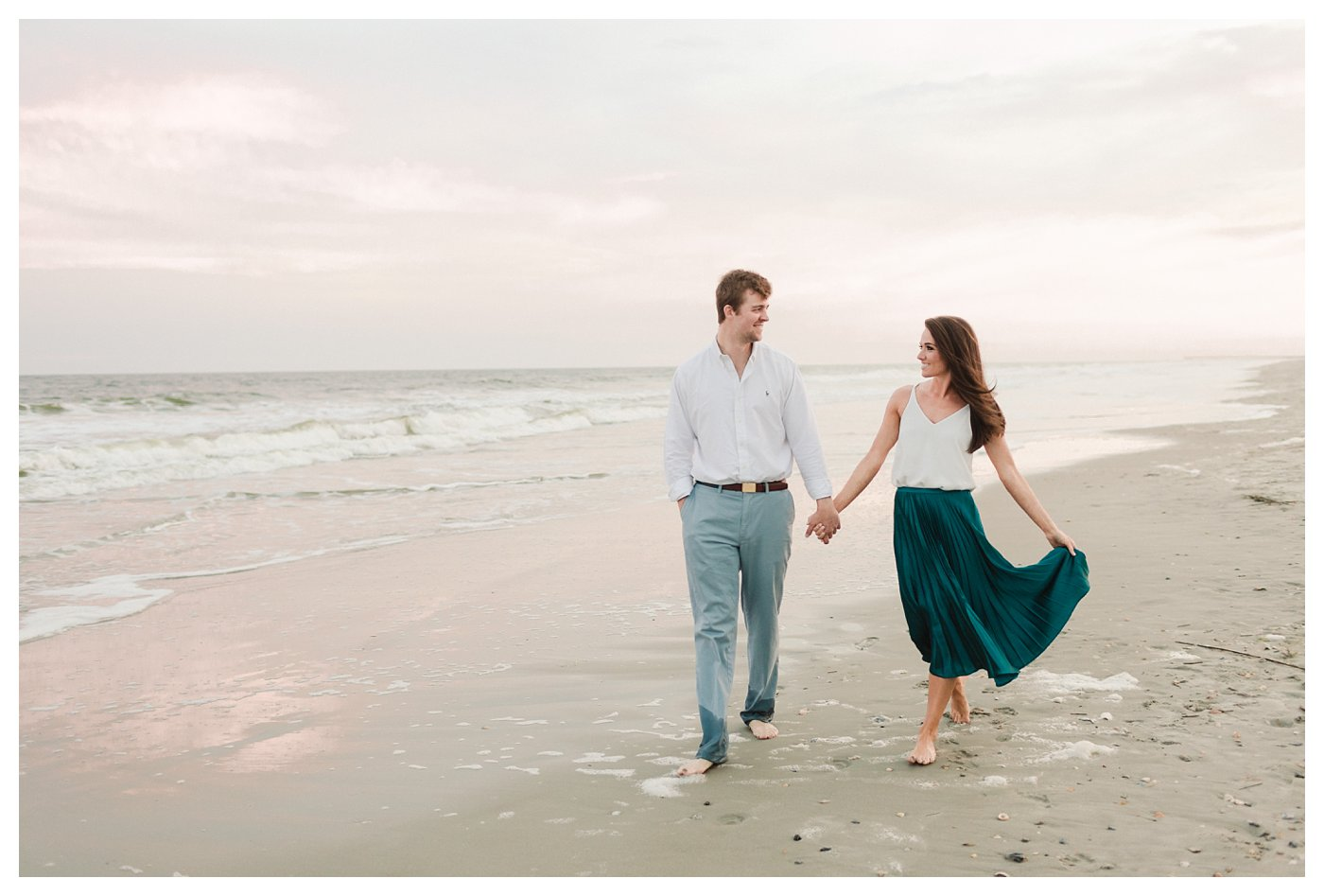 Ocean_Isle_NC_Beach_Coastal_Engagement_Session_Turqoise_White_Candlelit_0011.jpg