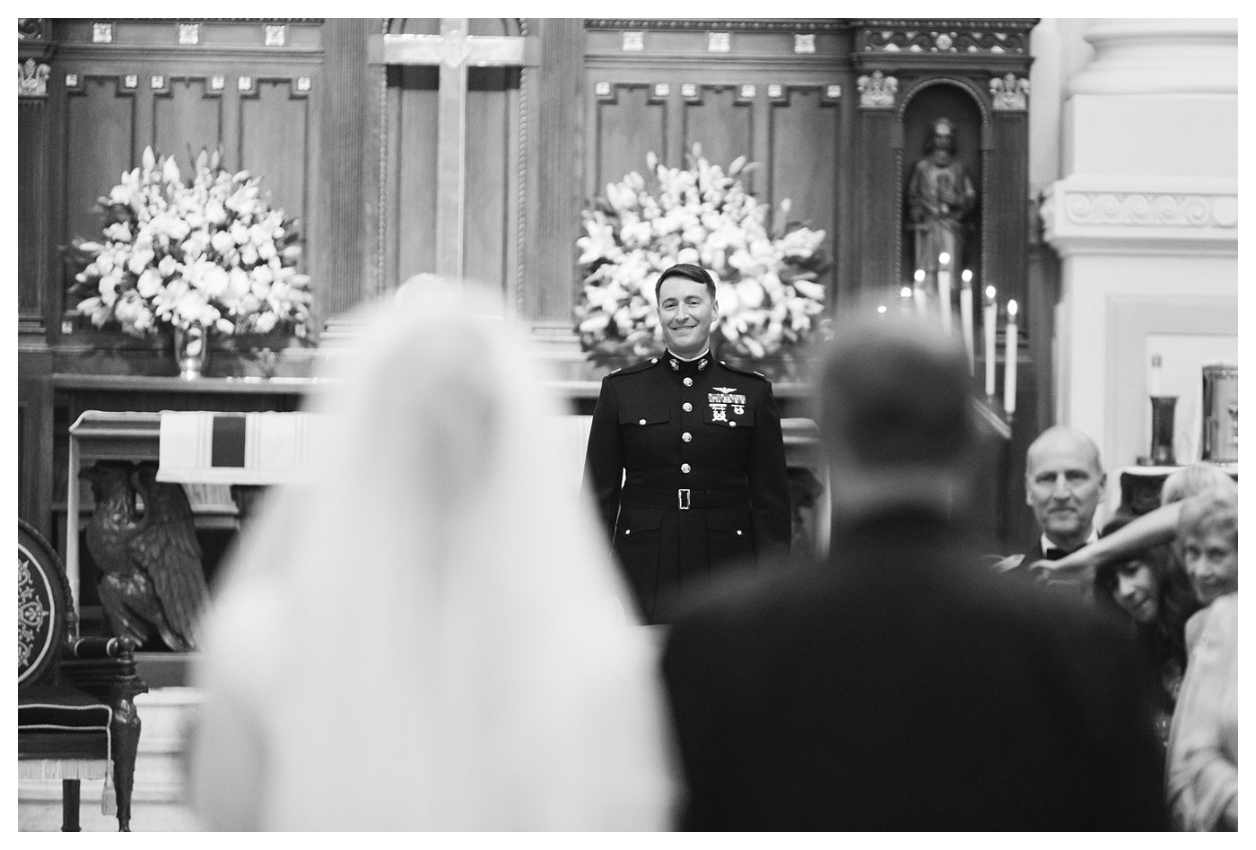 Wedding ceremony at the United States Naval Academy by Amanda and Grady Photography