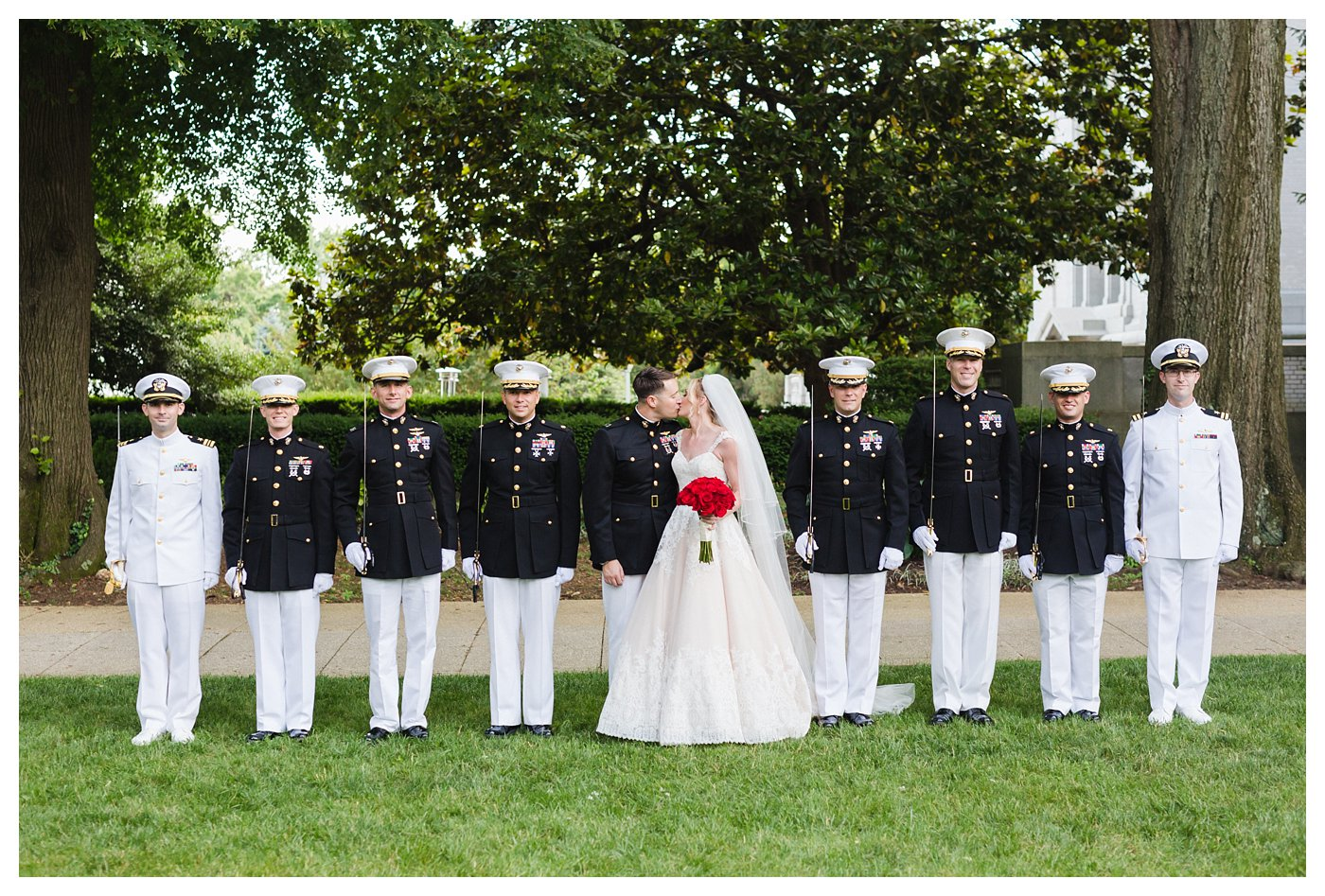 United States Naval Academy Wedding Photography by Amanda and Grady Photography