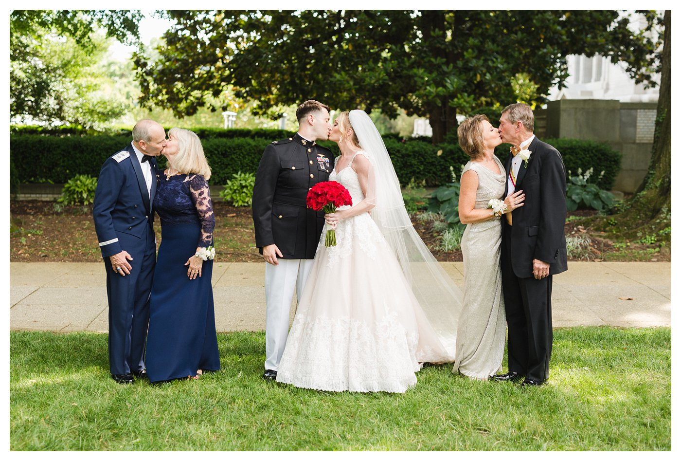 Navy Army and Marine Corps Wedding at the United States Navy Academy