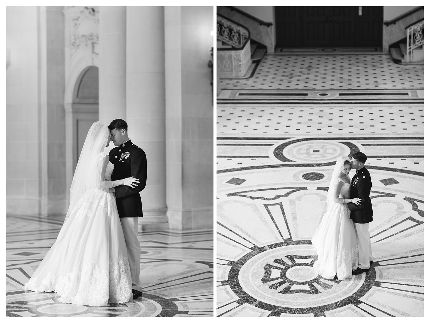 Bride and Groom Portraits at the United States Naval Academy by Amanda and Grady Photography