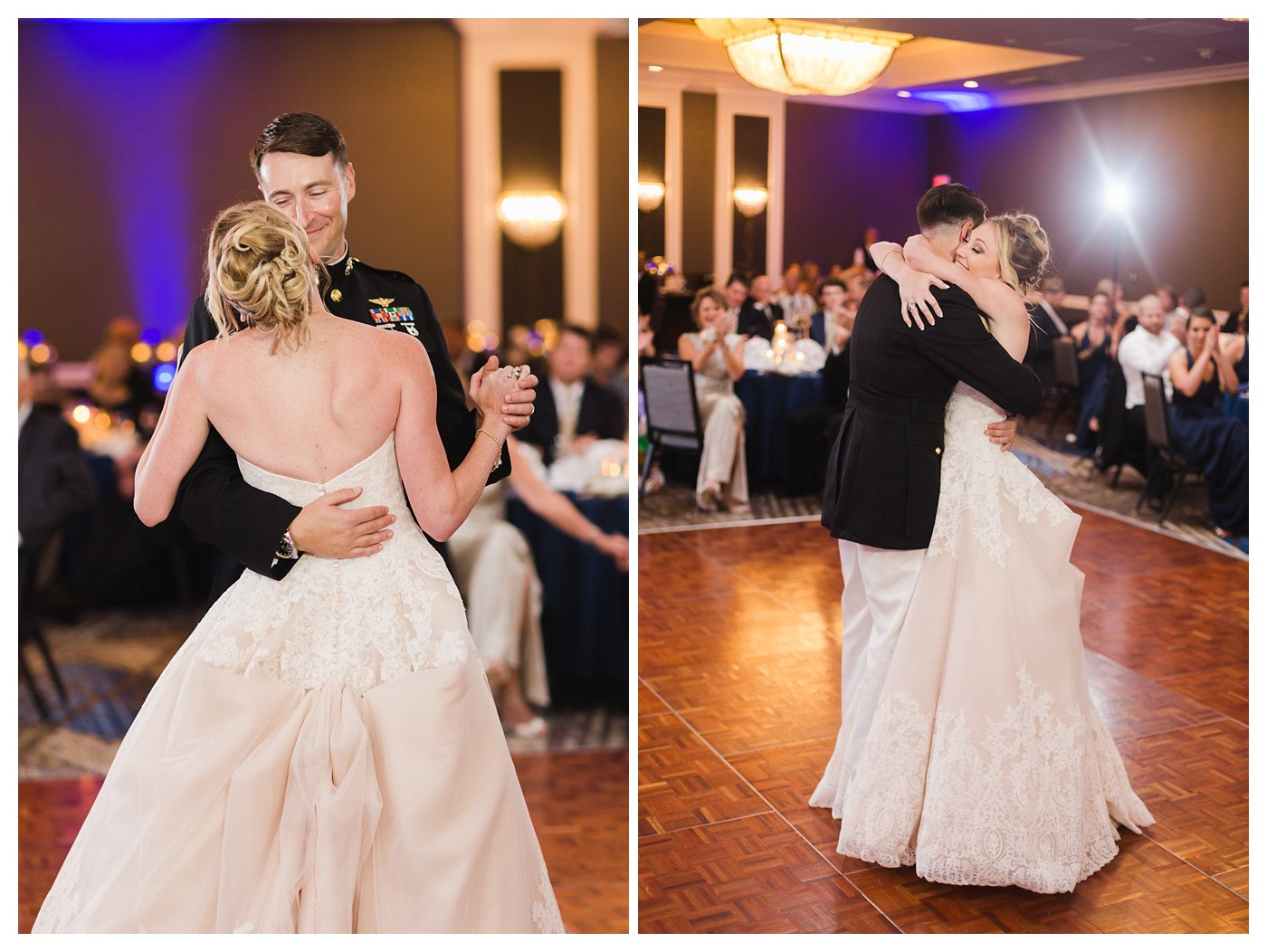 First Dances at the United States Naval Academy Wedding by Amanda and Grady Photography