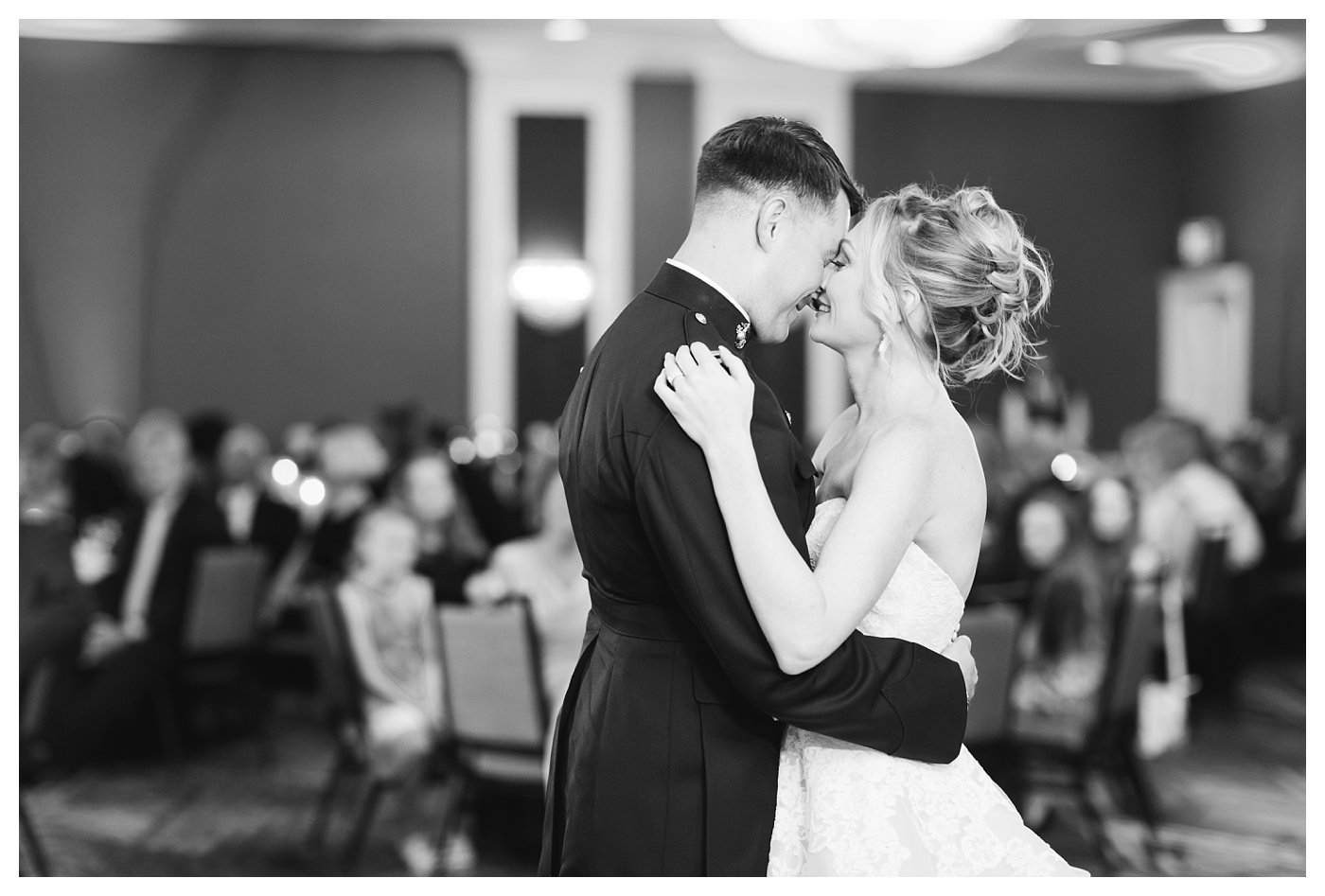 Marine Corp Wedding First Dance by Amanda and Grady Photography