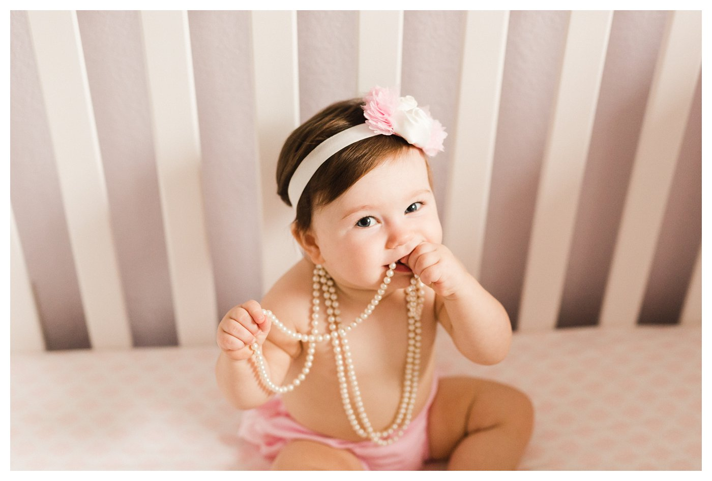 Pink and Pearls Photo Session for 1 Year Old