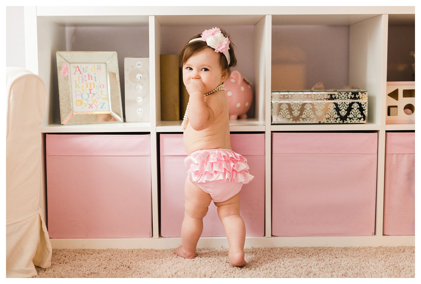 Pink and Pearl Photo Session for 1 Year Old