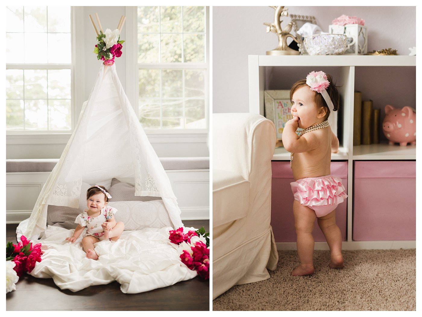 Floral Teepee Photo Session for 1 Year Old