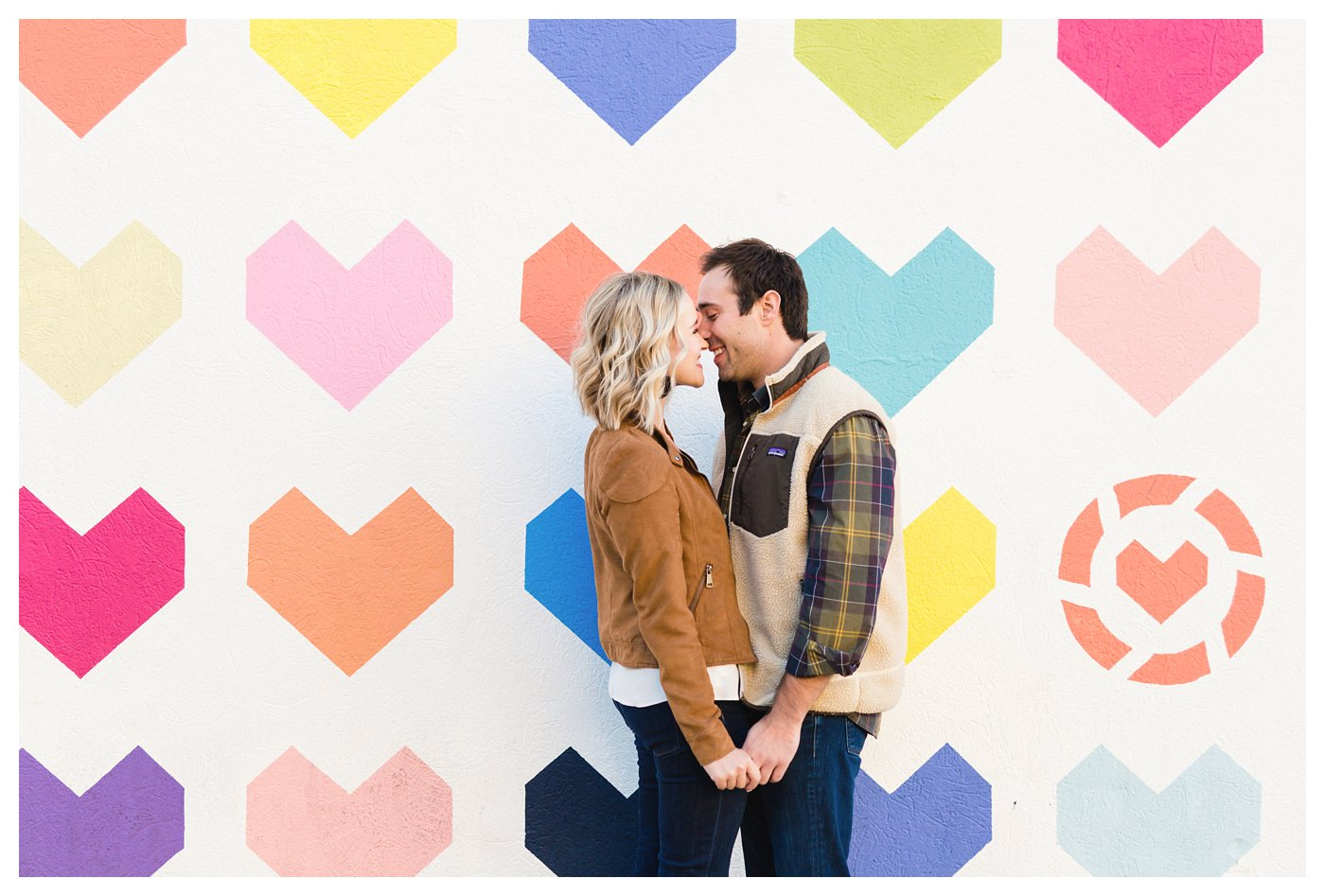 Dallas, Texas Engagement Photographer at Like To Know It Wall